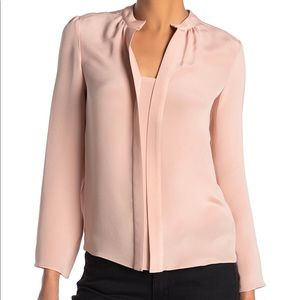 Derek Lam Kara Long Sleeve Silk Blouse